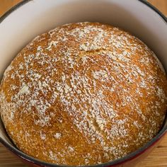 No Knead Cast Iron Whole Wheat Bread - no kneading required and 4 ingredients gives you a healthy delicious whole wheat crusty bread.