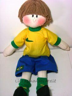 Lica Fernandes Ateliê: Boneco Jogador