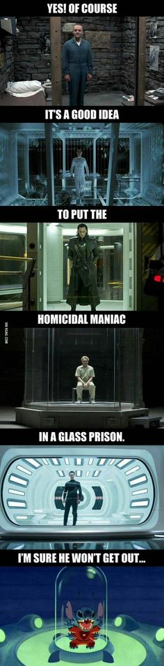 I laughed way to hard at this! Let's place the villain in a glass prison- there's no way they could ever escape!