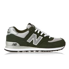 How cool is it?! New Balance ML574 Shoes - Green/Grey