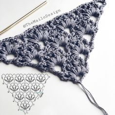 What is your favorite crochet hook size? Mine is mm - 4 mm, depends on project 😉 . Use link in my bio for unique patterns from… Crochet Stitches Patterns, Crochet Chart, Crochet Motif, Knitting Stitches, Crochet Lace, Knitting Patterns, Crochet Shawls And Wraps, Crochet Scarves, Crochet Hook Sizes