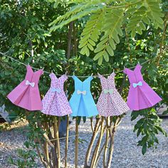 Origami paper dress garland girls party by sweetsurpriseparty