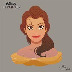 Personagens Disney em retratos - Just Lia   Por Lia Camargo