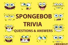 Test your knowledge with our Fun list of Spongebob Trivia questions and answers to inspire endless fun games for your next family & friends meetup Squidward Birthday, Spongebob Birthday Party, Birthday Party Games, 20 Birthday, Best Friend Questions, Trivia Questions And Answers, Trivia Quiz, Trivia Games, Spongebob Shows
