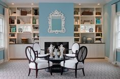 Tiffany Eastman Interiors - I like how the shelves are divided.