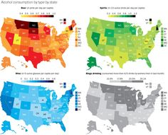 Where the biggest beer, wine, and liquor drinkers live in the U.S.