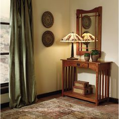 Powell Furniture Console Table and Mirror Set