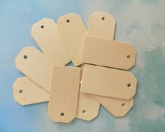 3 1/4 Large Natural Wooden Tags SET OF 10 Wedding Wood