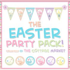 FREE Easter and Spring Printables Party Pack (Tags, buntings, cupcake toppers and even straw flags!  )