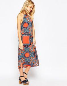 Image 4 ofASOS Halter Dress in Paisley Print