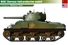 US M4A2 Sherman Medium Tank (mid production model)