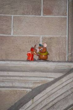 The next time you're passing through Cinderella's castle, check in the rafters for these two! I have to look next time