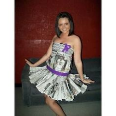 love this newspaper dress for anything goes but clothes ;)