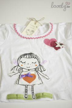 """el liston y los corazones me gustaron /  Camisetas personalizadas / """"Lovely"""" corner - Artesanio"""