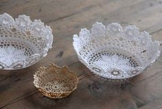 Quick Easy Lace Doily Bowl