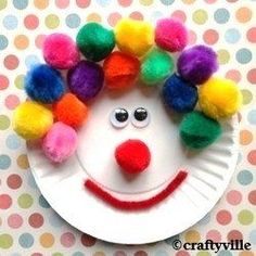 Cute clown crafts. How to make a paper plate clown craft. I've been making crafts since I was a wee one and have loved making crafts ever since.You... #pipecleanercraftsforkids