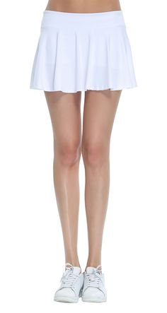 Golf Fashion - Women's Fitness Pleated Skirts Active Running Tennis Golf Lightweight Skorts With Built-In Shorts size Medium (White). You could obtain extra details at the picture link. (This is an affiliate link). Golf Attire, Golf Outfit, Summer Skirts, Mini Skirts, Pleated Skirts, Tennis Skort, Golf Skorts, Jupe Short, Running Skirts