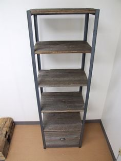 Barnwood and Metal Bookshelvs by ArtistandCarpenter on Etsy