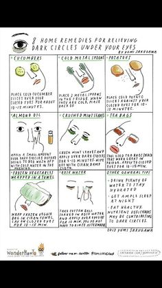 Remedy for puffy eyes REpinned via https://www.facebook.com/DhomeBAZAAR