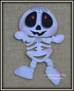 Skeleton dancing Halloween premade scrapbooking embellishment Paper Piecing set