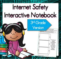 Internet Safety Interactive Notebook pages. 3rd grade version. 5 pages plus a freebie!$