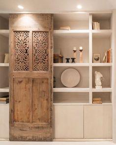 Book Shelves, Divider, Room, Furniture, Instagram, Home Decor, Reclaimed Doors, Studio, Shelving Units