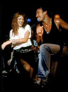 Bruce Springsteen and Patti Scialfa dance at the Stone Pony in Asbury Park, New Jersey, in August of 1987. (via  Bruce Springsteen: The Vintage Photographs: Photos: Rolling Stone)