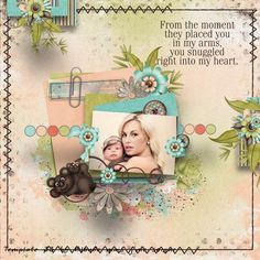 My Heart Belongs to Mommy layout by Zanthia using My Heart Belongs to Mommy Kit
