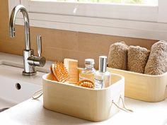 Elegantes cajas de madera para nuestro baño o hogar..