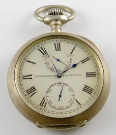 Patek Philippe, Genève, rare US Navy deck watch with exposed back winding indicator sytem of unique design