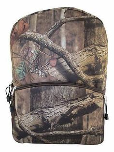 The mossy oak Backpack is great for keeping your gear organized while scouting for game or hunting. This backpack is constructed of soft tricot that is extra quiet so you won't spook game. It features a large compartment, a smaller front pocket with a bungee cord system and mesh side pockets.