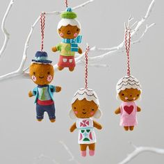Gingerbread Family Ornament  | The Land of Nod