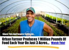 Urban Farmer Produces 1 Million Pounds Of Food Each Year On Just 3 Acres… | http://www.ecosnippets.com/gardening/urban-farmer/