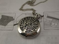 watch silver life of the tree silver pocket watch by demarrya, $0.20