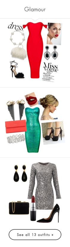 """Glamour"" by angelmbeks ❤ liked on Polyvore featuring Ciner, Charlotte Olympia, dreamydresses, Posh Girl, Rachel Entwistle, Charlotte Tilbury, Slate & Willow, Christian Louboutin, MAC Cosmetics and MICHAEL Michael Kors"