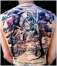 37 Fantastic and Cryptic Grim Reaper Tattoo Design Ideas