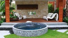 Jacuzzi backyard designs 63 hot tub deck ideas secrets of pr Hot Tub Deck, Hot Tub Backyard, Hot Tub Garden, Pool Spa, Whirlpool Deck, Bathtubs For Sale, Mini Piscina, Jacuzzi Outdoor, Small Pools