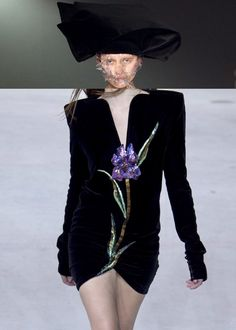3rdeyechakra:    fuckrashida:    @apimeleki asked me to post what Id wear to the MET Gala and Id actually you know would want to be able to you know like move and enjoy myself so Id wear the Saint Laurent mini with the Comme headpiece or that stupid Gucci thing with the Comme bunny ears!  But can we make this happen