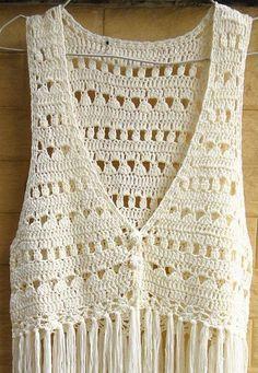 Fabulous Crochet a Little Black Crochet Dress Ideas. Fabulously Georgeous Crochet a Little Black Crochet Dress Ideas. Débardeurs Au Crochet, Crochet Jacket, Crochet Blouse, Crochet Poncho, Love Crochet, Beautiful Crochet, Crochet Vests, Crochet Vest Pattern, Crochet Patterns