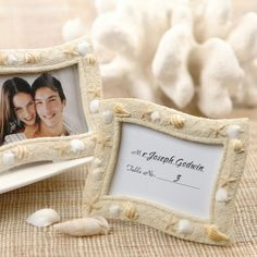 Seashell Place Card Holder Frame | Beach Favors