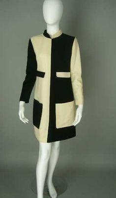 Courreges black and white dress: Palm Beach Vintage