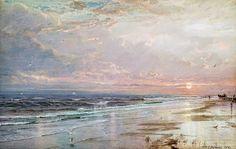 William Trost Richards - Artist Art for Sale - William Trost Richards Watercolor Landscape, Landscape Art, Landscape Paintings, Art Antique, Pastel, Seascape Paintings, Beach Art, Art Auction, Artist Art