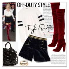 """""""Off duty style... Taylor swift..."""" by nihal-imsk-cam ❤ liked on Polyvore featuring T By Alexander Wang, Aquazzura, SPINELLI KILCOLLIN and offduty"""