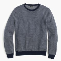 Merino wool crewneck sweater in bird's-eye stitch : sweaters | J.Crew