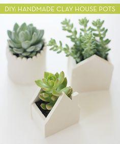 DIY Idea: Handmade Clay House Pots!