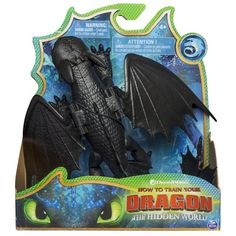 Dreamworks Dragons, Toothless Dragon Figure with Moving Parts, for Kids Aged 4 & Up - Toys Toothless Toy, Toothless Dragon, Hiccup And Toothless, Httyd 3, Dreamworks Movies, Dreamworks Dragons, Pokemon Room, Dinosaur Balloons, New Dragon