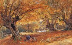 Myles Birket Foster, R.W.S. (1825-1899) Burnham Beeches watercolor