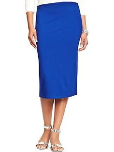 Womens Jersey Pencil Skirts yes please, love this color!