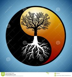 ... yang yang stockfoto s roots silhouette it s roots ying yang tattoo