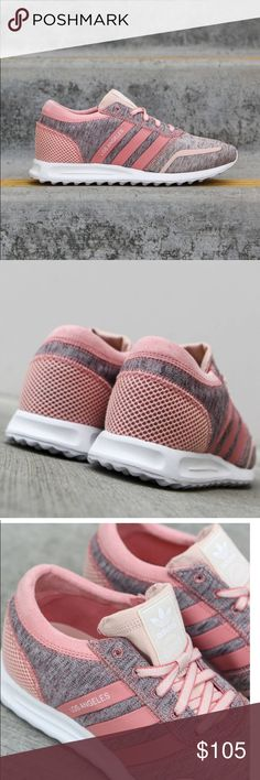 Women's Adidas Los Angeles 9 Pink new in box Brand new! Never worn because they were too big on me. I normally wear a 9 in Nike and most other shoes but don't usually wear Adidas so didn't realize they may run slightly larger. Sold out everywhere! Adidas Shoes Athletic Shoes